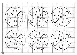 6 jantes Proto-6 ajourées